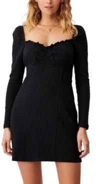 Cotton On Women's Savannah Long Sleeve Mini Dress