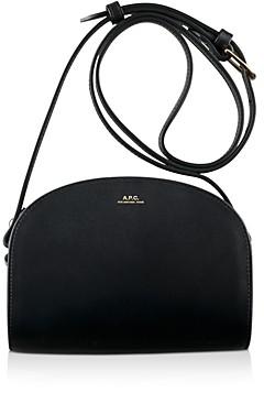 A.P.C. Demi Lune Mini Leather Crossbody