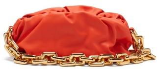 Bottega Veneta The Chain Pouch Leather Clutch Bag - Orange