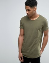 Esprit Crew Neck T-Shirt with Raw Edges