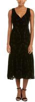 Nanette Lepore Lady Samantha Silk-Blend Midi Dress