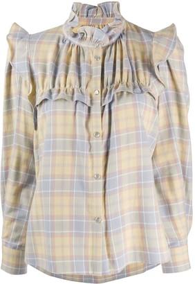 Etoile Isabel Marant Idety checked cotton shirt