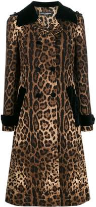 Dolce & Gabbana leopard print trench coat