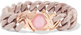 Stephen Webster Forget Me Knot 18-karat Rose Gold, Ceramic And Opal Bracelet - Pink