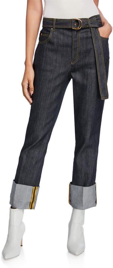 Escada Cuffed Straight-Leg Jeans