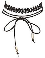 Charlotte Russe Plus Size Faux Suede & Crochet Choker Necklaces - 2 Pack
