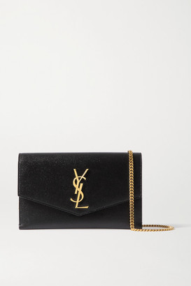 Saint Laurent Uptown Textured-leather Shoulder Bag - Black