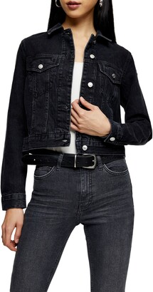Topshop Tilda Crop Denim Jacket