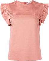 RED Valentino pleated panel blouse