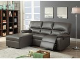Acme Artha Grey Bonded Leather Match Sectional Sofa