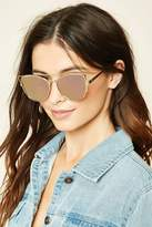 Forever 21 FOREVER 21+ Mirrored Cutout Sunglasses
