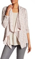 Bobeau One Button Stripe Cardigan