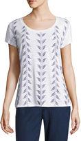 Liz Claiborne Short Sleeve Scoop Neck T-Shirt