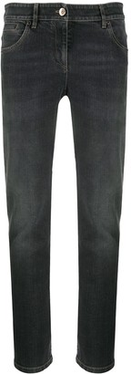 Brunello Cucinelli High-Rise Straight Leg Jeans