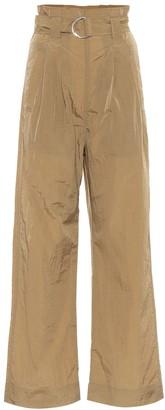 Ganni Tech high-rise straight pants