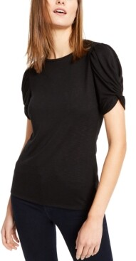 INC International Concepts Inc Petite Puff-Sleeve Top, Created for Macy's