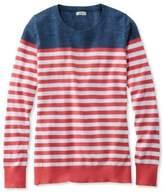 L.L. Bean Cotton Slub Sweater, Pullover Stripe