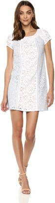 Nanette Lepore Nanette Women's S/S Shift Dress W/Combo Panels