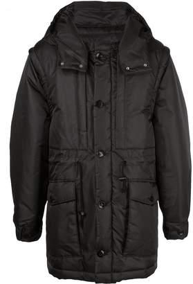 Undercover drawstring waist hooded jacket