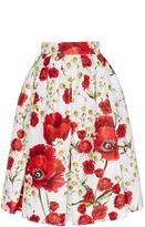 Dolce & Gabbana Silk Cotton Floral Printed Skirt