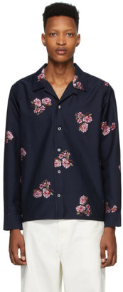 Noah NYC Navy Floral Shirt