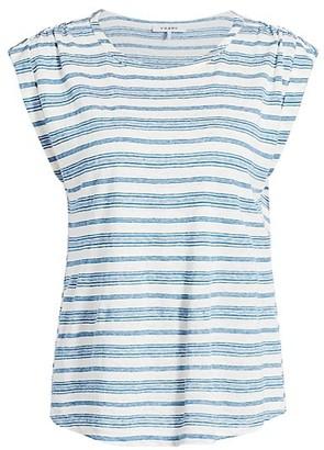 Frame Striped Linen Top