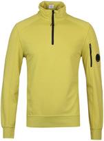Cp Company Lime Watch Viewer Quarter Zip Sweatshirt