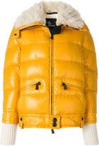 Moncler lamb fur collar puffer jacket
