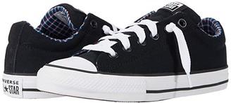 Converse Chuck Taylor(r) All Star Street(r) Plaid Slip (Little Kid/Big Kid) (Black/White/Multi) Boy's Shoes
