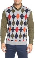Bobby Jones Argyle Merino Wool Sweater Vest