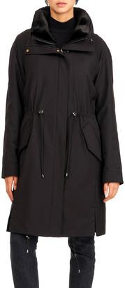Gorski Reversible Sheared Mink Stroller Coat w/ Short-Nap Collar