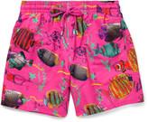 Vilebrequin Moorea Fish-Print Mid-Length Swim Shorts