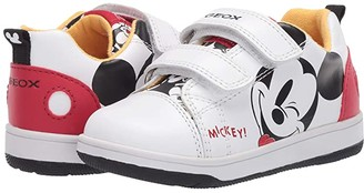 Geox Kids New Flick 15 Mickey Mouse (Toddler) (White/Red) Boy's Shoes
