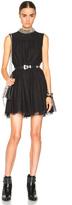 Saint Laurent Embellished Neck Lace Dress