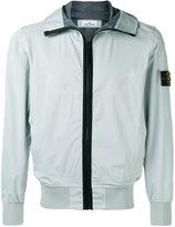 Stone Island zipped hooded jacket - men - Polyester/Polyethylene - L