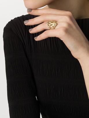 Loree Rodkin 14kt Gold Diamond Maltese Ring