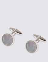 M&S Collection Mother of Pearl Cufflinks