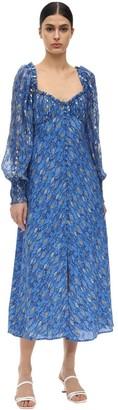 Rixo Miriam Lurex Silk Fil Coupe Jumpsuit