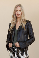 Understated Leather Womens BELL SLEEVE JACKET
