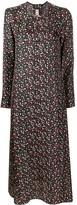 Marni long-sleeved floral print midi dress