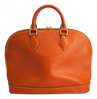 Louis Vuitton Alma Brown Leather Handbags