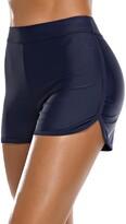 Thumbnail for your product : Bonneuitbebe Women's Swim Shorts High Waist Bathing Suit Board Shorts Swimsuit Bottoms Bikini Boyshorts - blue - Large