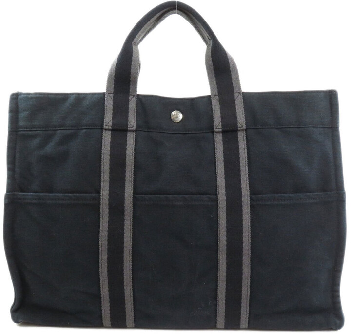 Thumbnail for your product : Hermes Black Canvas Fourre Tout MM Tote Bag