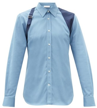 Alexander McQueen Harness Cotton-twill Shirt - Blue
