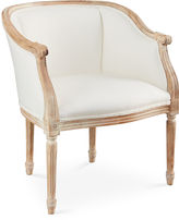 Sarreid Ltd. Ardus Accent Chair, Off-White Linen