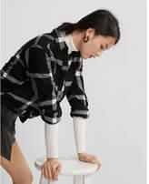 Express checked flannel boyfriend shirt