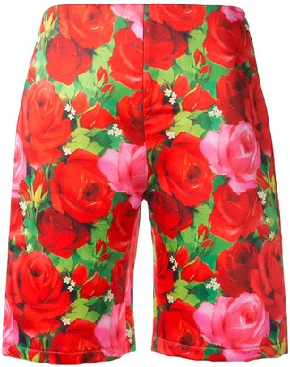 Richard Quinn tailored rose print shorts