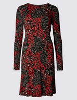 Marks and Spencer Ditsy Print Long Sleeve Swing Dress