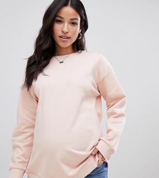 Asos DESIGN Maternity ultimate sweatshirt in pink