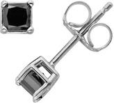 Black Diamond 10k White Gold 1/2-ct. T.W. Solitaire Earrings